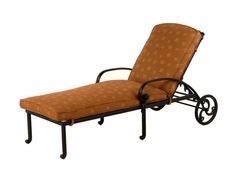 The Sierra Collection Commercial Cast Aluminum Single Chaise Lounge