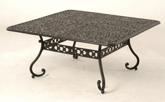 The Sierra Collection Commercial Cast Aluminum Square Dining Table