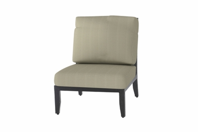 The Skyla Collection Commercial Cast Aluminum Armless Stationary Club Chair