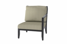 The Skyla Collection Commercial Cast Aluminum Left Arm Stationary Club Chair