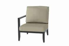 The Skyla Collection Commercial Cast Aluminum Right Arm Stationary Club Chair