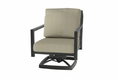 The Skyla Collection Commercial Cast Aluminum Swivel Club Chair