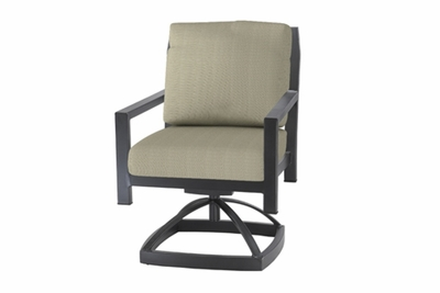 The Skyla Collection Commercial Cast Aluminum Swivel Dining Chair With Standard Back