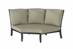 The Skyla Collection Commercial Cast Aluminum Three Back Corner Chair