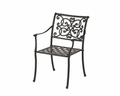 The St. Tropez Collection Commercial Cast Aluminum Stationary Dining Chair