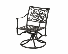 The St. Tropez Collection Commercial Cast Aluminum Swivel Dining Chair
