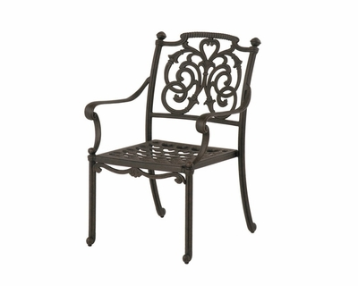 The Romana Collection Commercial Cast Aluminum Stationary Dining Chair