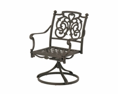 The Romana Collection Commercial Cast Aluminum Swivel Dining Chair