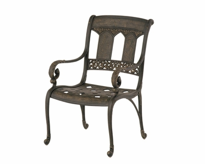 The Tuscana Collection Commercial Cast Aluminum Stationary Dining Chair