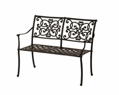 The St. Tropez Collection Commercial Cast Aluminum Bench
