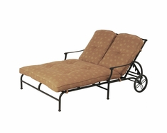 The St. Tropez Collection Commercial Cast Aluminum Double Chaise Lounge