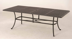 "The Tahoe Collection Commercial Cast Aluminum 42"" x 84"" Rectangle Dining Table"
