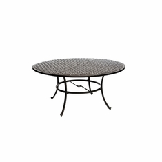 "The Tahoe Collection Commercial Cast Aluminum 60"" Round Dining Table"