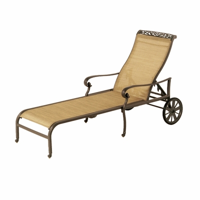 The Talbot Collection Commercial Cast Aluminum Sling Chaise Lounge