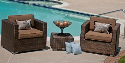 The Taryn Collection All Weather Wicker Patio Furniture Deep Seating Chat Group