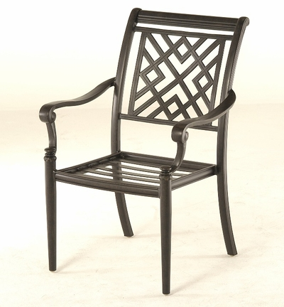 The Hollister Collection Commercial Cast Aluminum Stationary Dining Chair
