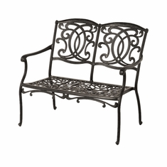 The Tori Collection Commercial Cast Aluminum Bench