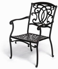 The Tori Collection Commercial Cast Aluminum Stationary Dining Chair
