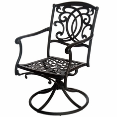 The Tori Collection Commercial Cast Aluminum Swivel Dining Chair
