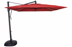 The Treasure Garden Collection 10' Square Cantilever Patio Umbrella