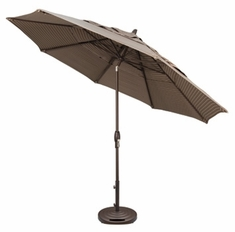 The Treasure Garden Collection 11' Auto Tilt Aluminum Patio Umbrella