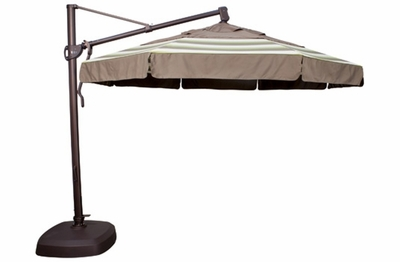 The Treasure Garden Collection 11' Octagon Cantilever Patio Umbrella