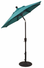 The Treasure Garden Collection 6' Push Button Tilt Aluminum Patio Umbrella