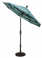 The Treasure Garden Collection 7.5' Collar Tilt Aluminum Patio Umbrella