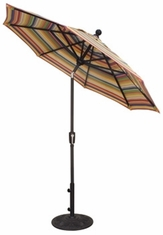 The Treasure Garden Collection 7.5' Push Button Tilt Aluminum Patio Umbrella