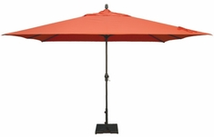 The Treasure Garden Collection 8' x 11' Crank Lift Aluminum Patio Umbrella