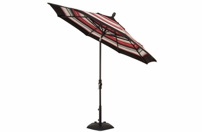 The Treasure Garden Collection 9' Collar Tilt Aluminum Patio Umbrella