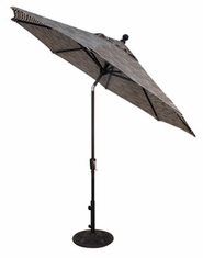 The Treasure Garden Collection 9' Push Button Tilt Aluminum Patio Umbrella