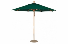 The Treasure Garden Collection 9' Quad Pulley Lift Wood Patio Umbrella
