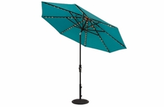 The Treasure Garden Collection 9' Starlight Collar Tilt Aluminum Octagon Patio Umbrella