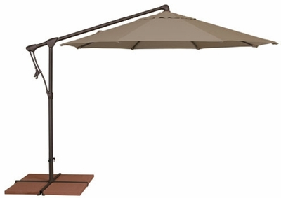 The Treasure Garden Collection AG Series 10' Octagon Cantilever Patio Umbrella