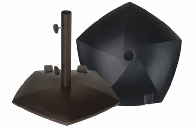 The Treasure Garden Collection Cast Aluminum Pentagon Umbrella Stand With Wheels