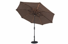The Treasure Garden Collection Starlight Collar Tilt 11' Octagon Patio Umbrella