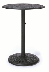 "The Tribeca Collection Commercial Cast Aluminum 30"" Round Pedestal Bar Height Table"