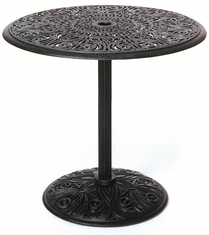 "The Tribeca Collection Commercial Cast Aluminum 30"" Round Pedestal Counter Height Table"