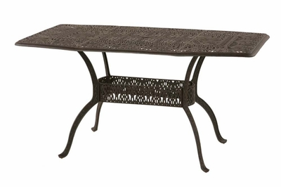 "The Tribeca Collection Commercial Cast Aluminum 42"" x 72"" Oblong Counter Height Table"