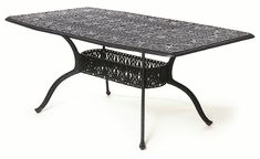 "The Tribeca Collection Commercial Cast Aluminum 42"" x 72"" Oblong Dining Table"