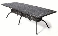 "The Tribeca Collection Commercial Cast Aluminum 42"" x 90"" Oblong Dining Table"