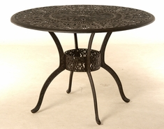 "The Tribeca Collection Commercial Cast Aluminum 48"" Round Dining Table"