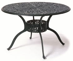 "The Tribeca Collection Commercial Cast Aluminum 54"" Round Counter Height Table With Inlaid Lazy Susan"