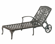 The Tribeca Collection Commercial Cast Aluminum Chaise Lounge