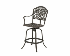 The Tribeca Collection Commercial Cast Aluminum Swivel Counter Height Chair