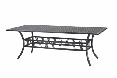 "The Tropica Collection Commercial Cast Aluminum 42"" x 86"" Rectangle Dining Table"