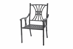 The Tropica Collection Commercial Cast Aluminum Stationary Dining Chair
