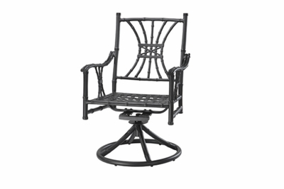 The Tropica Collection Commercial Cast Aluminum Swivel Dining Chair