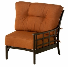 The Tucson Collection Commercial Cast Aluminum Left Crescent Club Chair